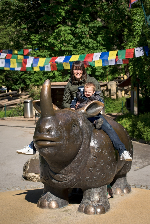 Anche Matteo a cavallo del rinoceronte copia