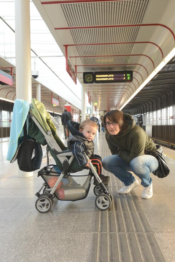La mia famiglia sulla banchina