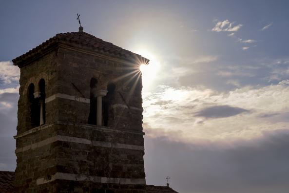 Sole nel campanile copia