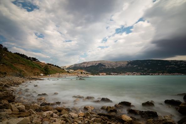 Spiaggia in long exposure copia