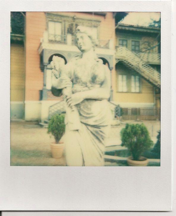 Statua in Polaroid