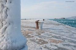 Molo Audace ghiacciato