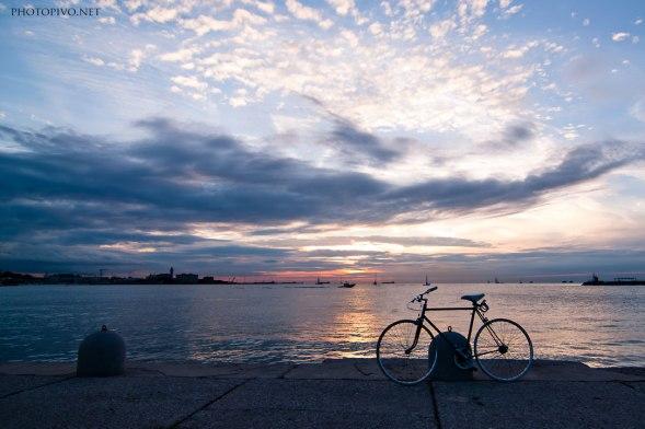La bici al tramonto