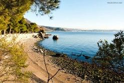 La spiaggia di Miramare