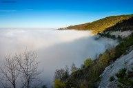 Nebbia sulla cava